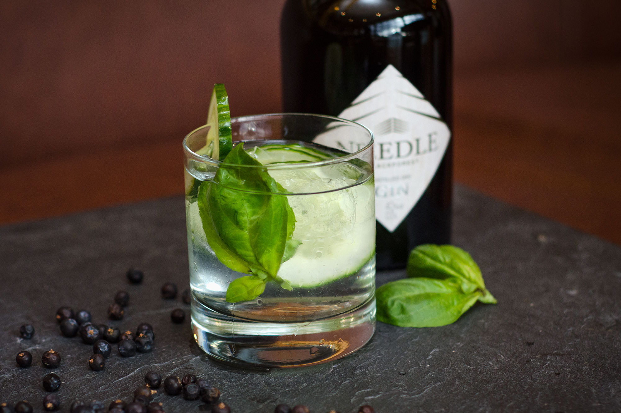 The GBC - gin, fresh basil, cucumber